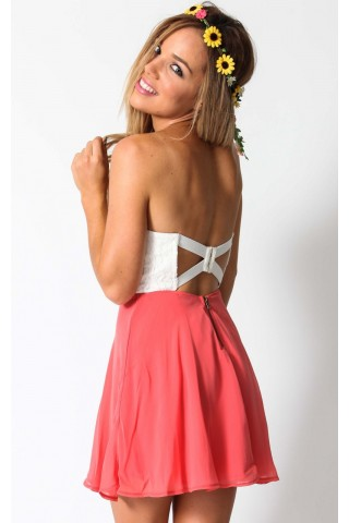 Popsicle dress in coral  | SHOWPO Fashion Online Shopping