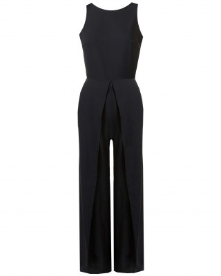 LOVE Black Split Leg Jumpsuit - In Love With Fashion