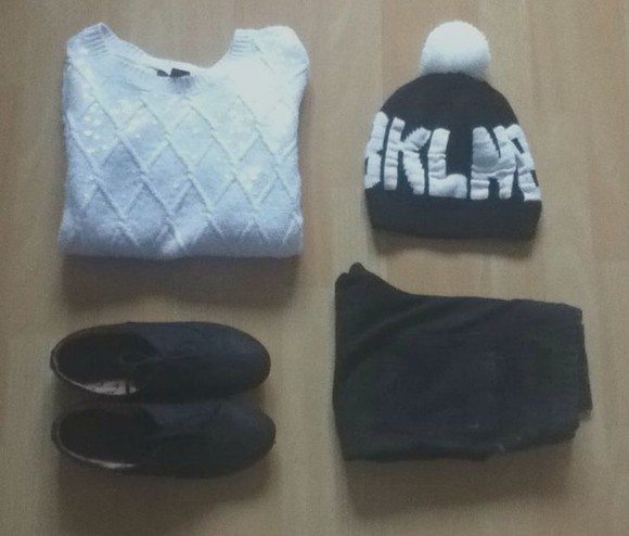 sweater pull hat cute bonnet bkln jegging beauty pretty clothes sweat