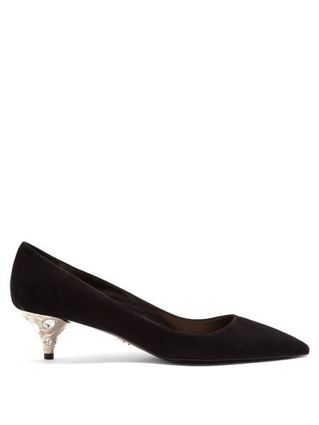 suede pumps embellished pumps suede silver black shoes