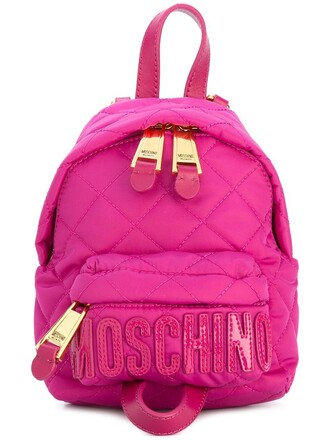 mini quilted backpack purple pink bag