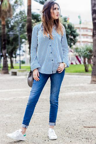 shoes and basics blogger striped shirt