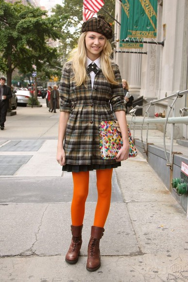 gossip girl jenny humphrey taylor momsen coat tartan coat tartan fashion coat