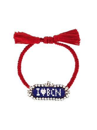 beaded bracelet love beaded blue jewels