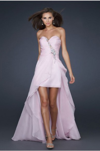 Pink Prom Dresses 2013 pink beaded pro...