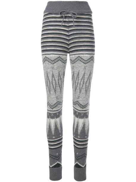 leggings women mohair knit grey pants