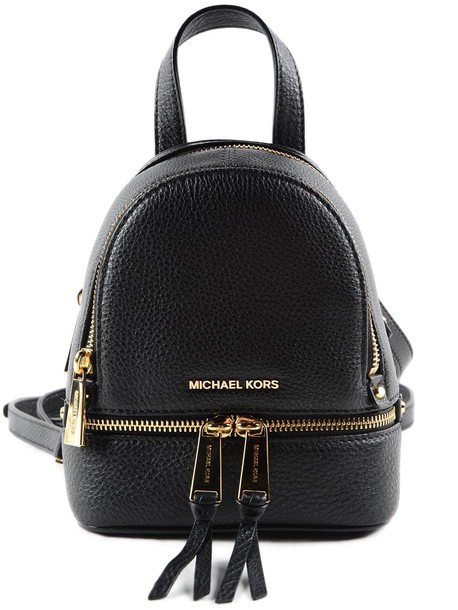 Michael Kors zip backpack black bag