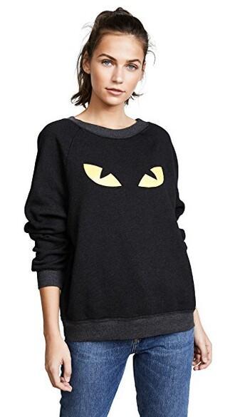 sweatshirt cat sweatshirt black sweater