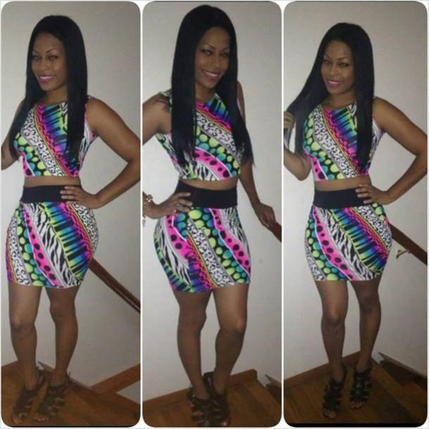 dress bodycon multicolor dress skirt top