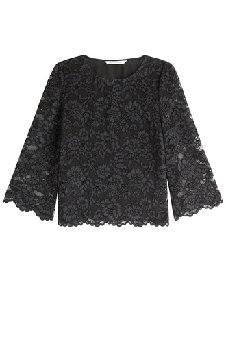 top lace top lace black