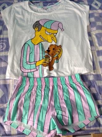 pajamas the simpsons shorts funny cartoon kawaii sleep
