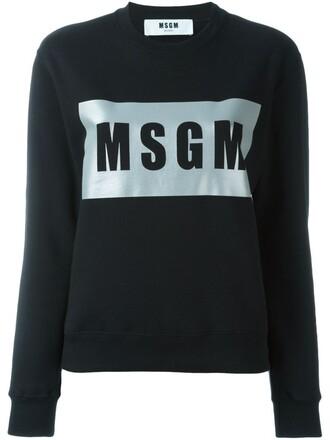 sweatshirt silver black sweater