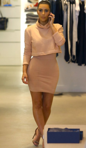 shirt long sleeve sweater turtleneck top dress bodycon dress crop tops outfit fashion classy girly spring fall outfits tan leather dress shoes skirt