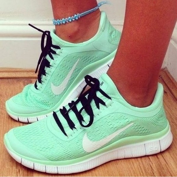 mint green shoes nike running shoes