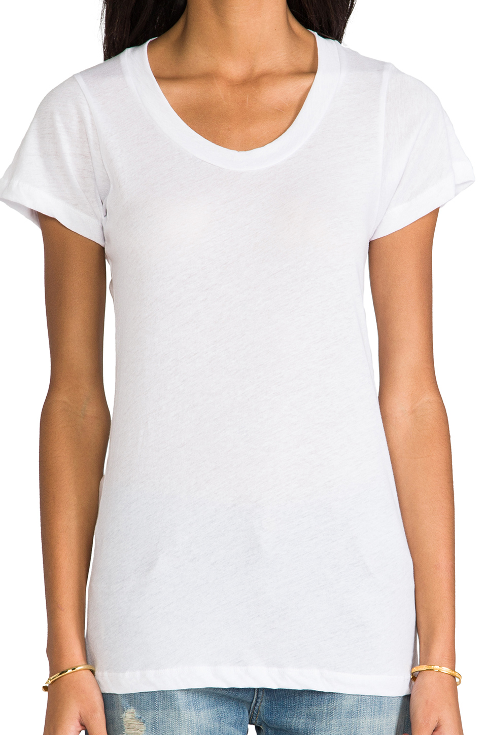 LNA Crew Neck Tee in White | REVOLVE