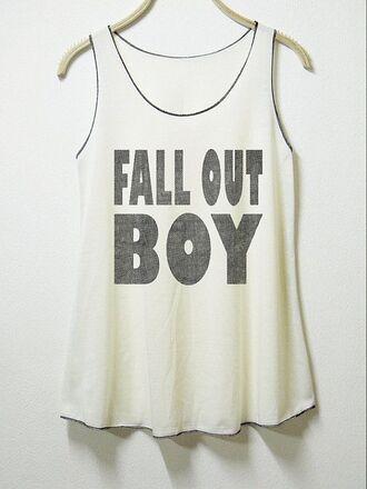 tank top fall out boy band t-shirt
