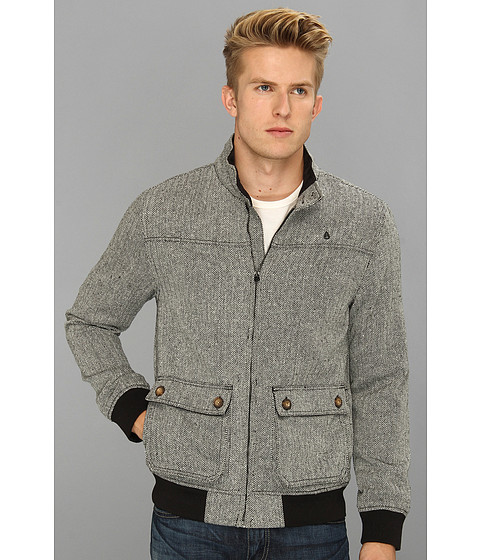 Nixon Stockton Wool Jacket Black Herringbone - Zappos.com Free Shipping BOTH Ways