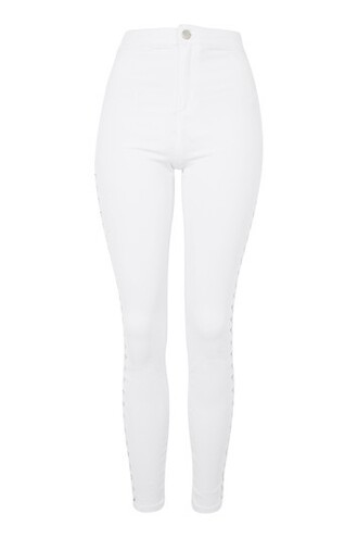 jeans lace white
