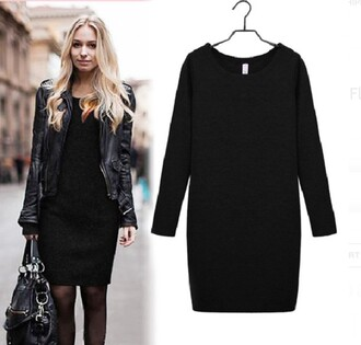 dress fashion vintage boho girly girl hipster black classy indie winter outfits fall outfits amazing comfy style black dress little black dress winter sweater dream closet couture