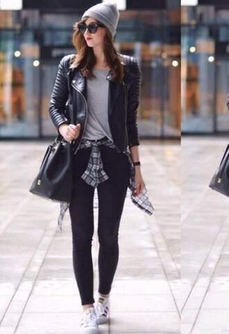 jacket black casual