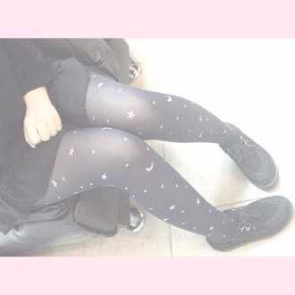 tights moon star goth grunge punk alternative