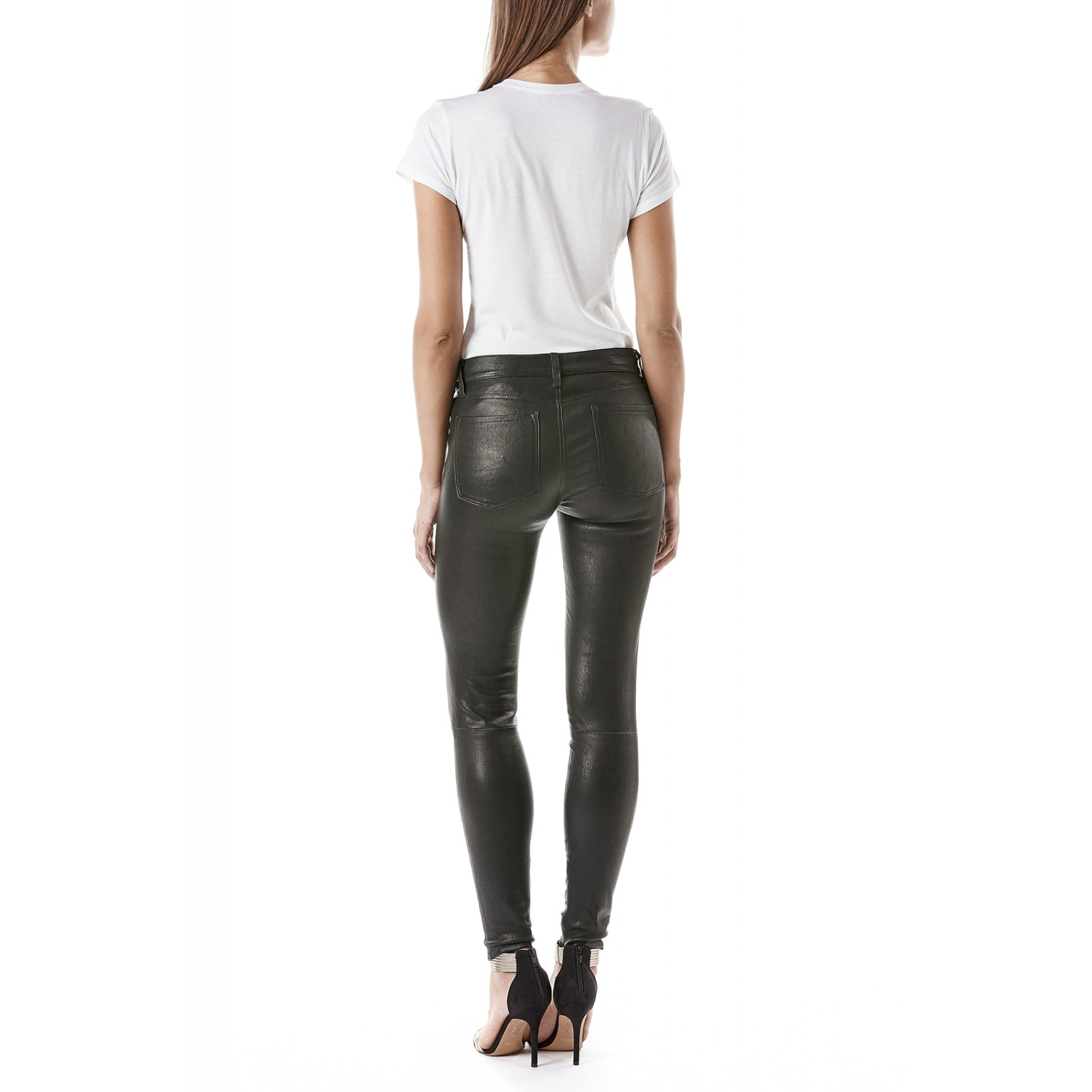 French stretch leather janice ultra skinny for women