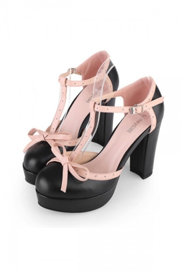 shoes persunmall heels persunmall heels black and pink
