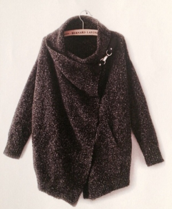 jacket grey black dark cardigan sweater cool