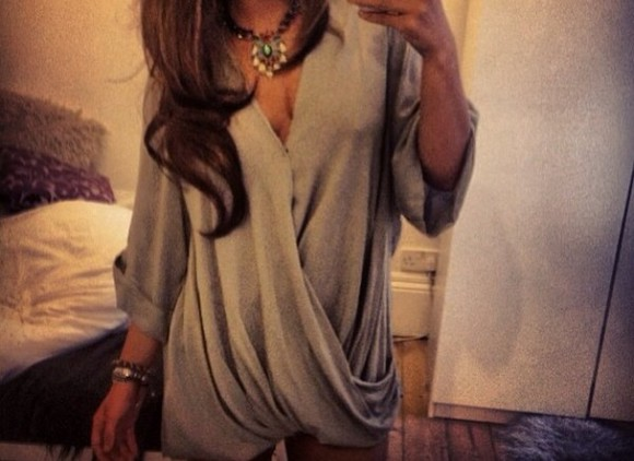 dress grey dress slouch cardigan