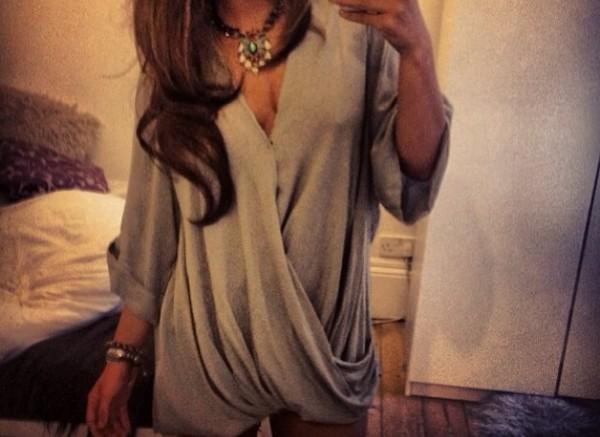 dress grey dress slouch cardigan