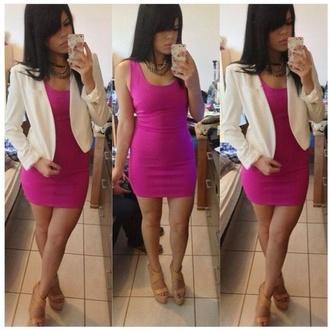 dress pink purple pretty dope magenta mini dress urgent