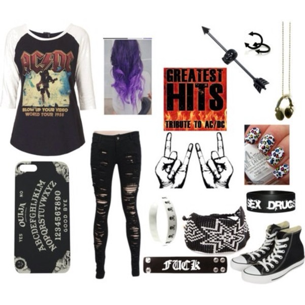 shirt band punk grunge emo iphone case jewels jeans shoes acdc rock