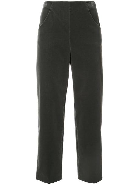 Vanessa Seward cropped women spandex cotton grey pants