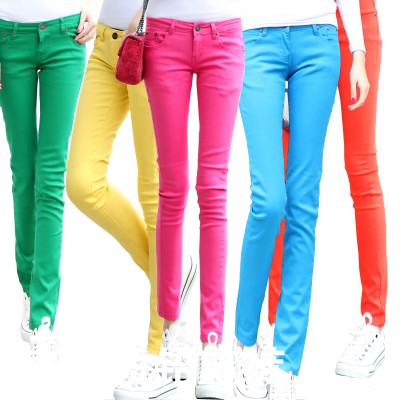 Slim cotton stretch pants women's  jeans