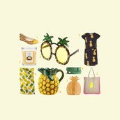 home accessory,yellow,fruits,pinapple,sunglasses