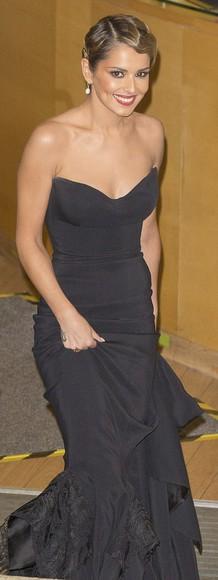 dress prom dress gown black cheryl cole cheryl fernandez