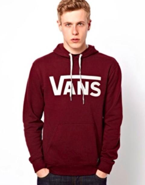 sweater vans vans vans vans jumper burgundy burgundy sweater white hoodie sweatshirt