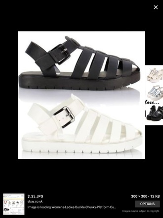 shoes chunky caged sandals flat summer cute