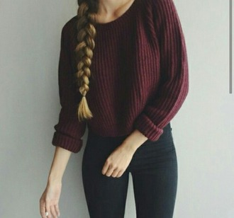 maroon lovely burgundy sweater