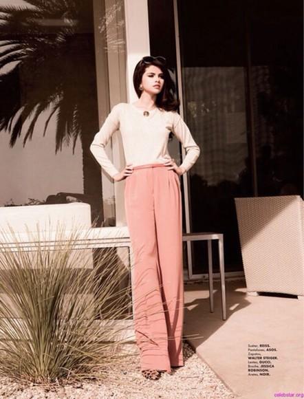 pants pink pants selena gomez summer outfits