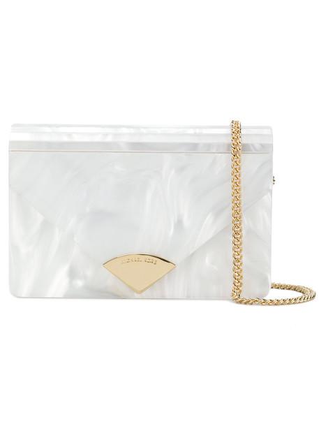 MICHAEL Michael Kors envelope clutch women clutch leather white bag