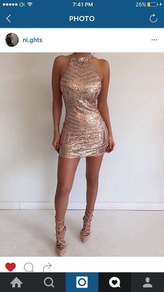 dress rose rose gold fashion prom dress short prom dress sexy party dresses paetê glitter pink pink dress sexy dress party dress party outfits short party dresses short dress pink prom dress gold dress backless backless prom dress backless dress rose gold clothing glitter dress luxury