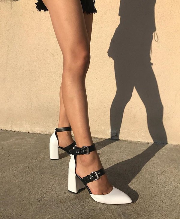 shoes black white buckle heels black and white white black black dress leather pretty cute slay chy heel black buckle pumps buckles closed toe block heel closed toe block heels