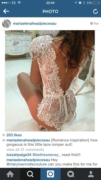 underwear lace wedding bodysuit playsuiit playsuit cute