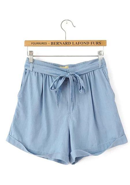 Women's slim fit washing denim shorts online