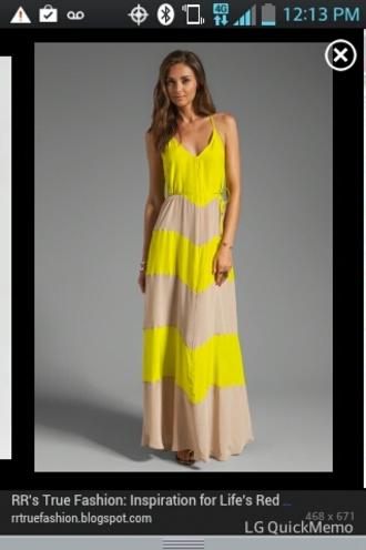 dress yellow dress maxi dress stripes style yellow slip dress