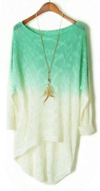 blouse t-shirt ombre dip dyed fashion style