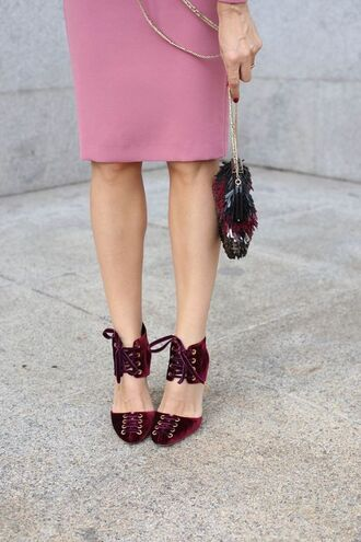 shoes tumblr velvet velvet shoes velvet sandals red shoes burgundy burgundy shoes bag lace-up shoes jimmy choo