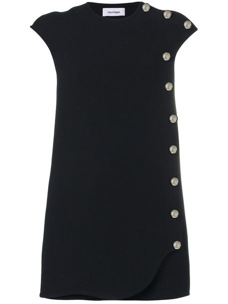 dress shift dress women black wool