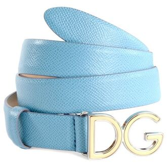 belt logo belt blue blue belt silver baby blue leather leather belt dolce and gabbana
